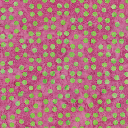 Dots Great  Pink With Green