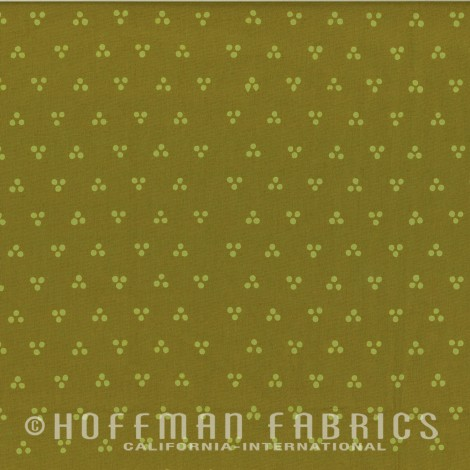 Dotty Chevron  Olive 1