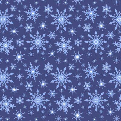 Icy Blue Snowflakes  Dark Blue