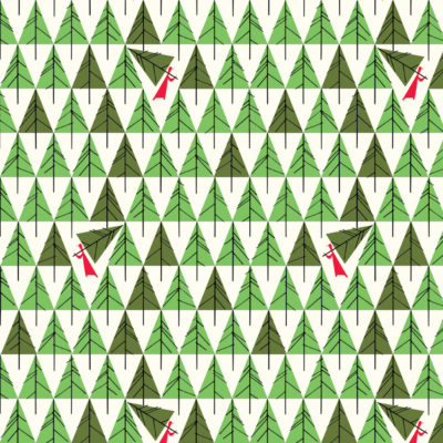 Geo Trees  Green