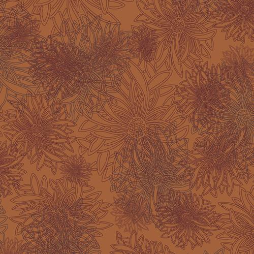 Floral Elements  Russet Orange
