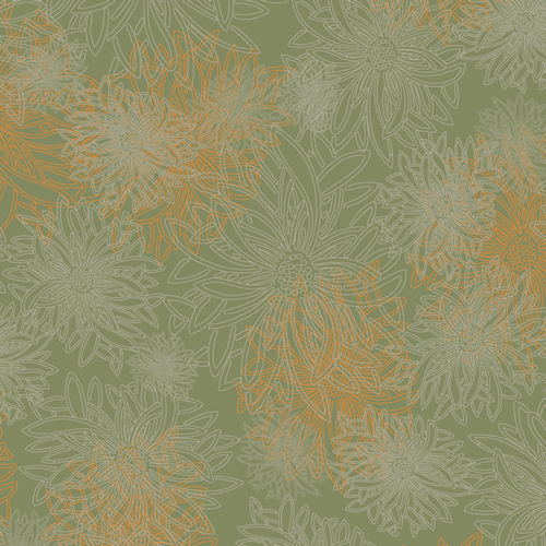 Floral Elements  Dusty Olive