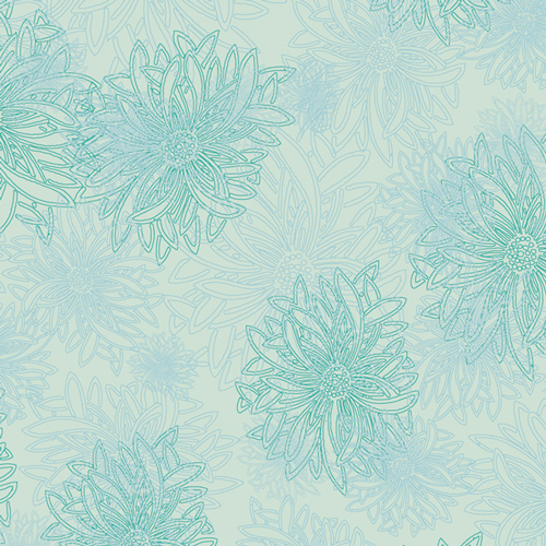 Floral Elements  Icy Blue