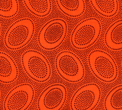 Aboriginal Dot Orange