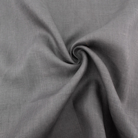 Linen Solid  Charcoal