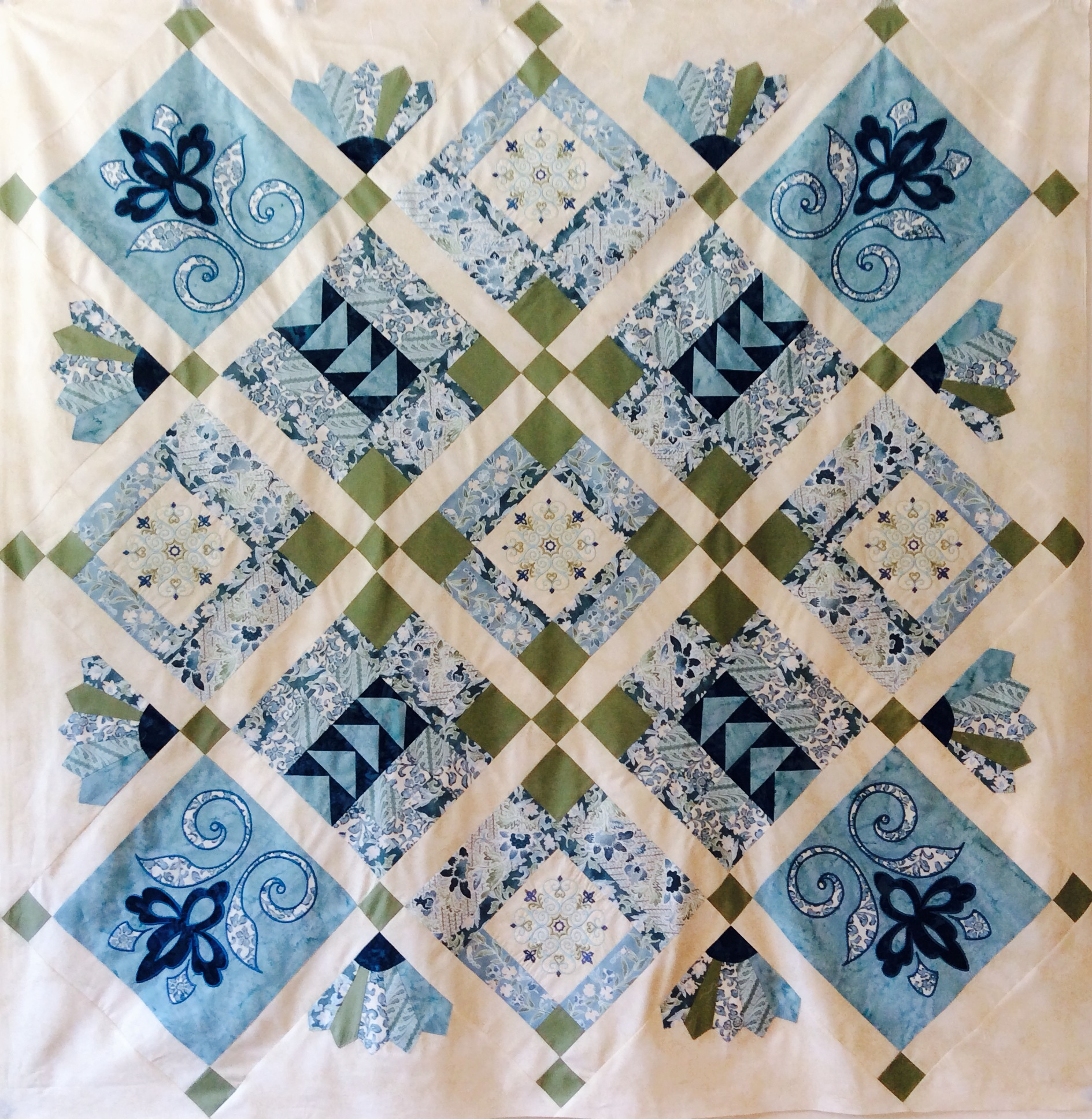 Machine applique and embroidery sundance quilt blocks