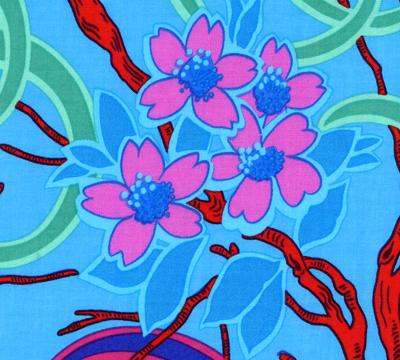 Daffodils & Dogwood Blue
