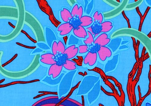 Daffodils & Dogwood Blue 1