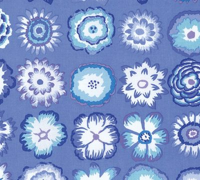 Button Flowers  Blue