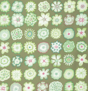Button Flowers  Green