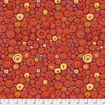 Button Mosaic  Orange