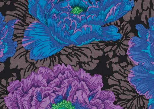 Brocade Peony Blue 1