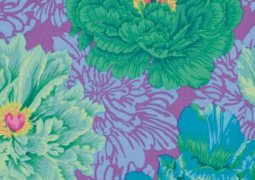 Brocade Peony Green
