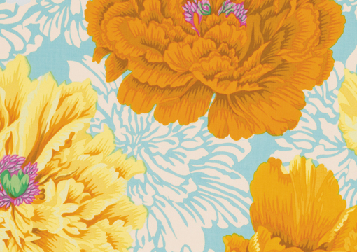 Brocade Peony Yellow 1