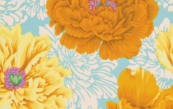 Brocade Peony Yellow