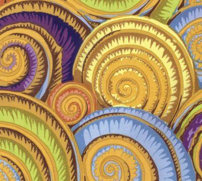 Spiral Shells  Gold