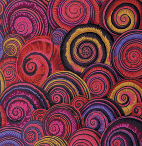 Spiral Shells  Red