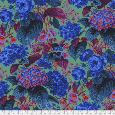 Rose And Hydrangea  Blue