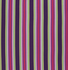 Tick Tock Stripe  Raspberry