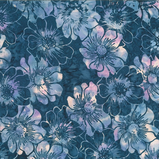 Graphic Floral  Navy