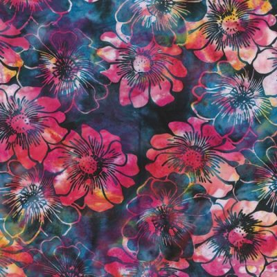 Graphic Floral  Hollyhock