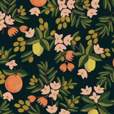 Citrus Floral  Black