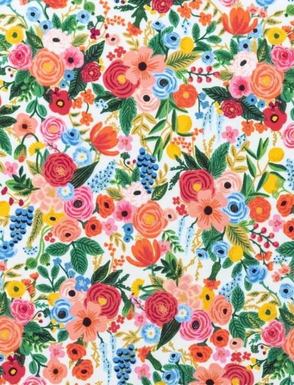 Petite Garden Party  Pink Rayon
