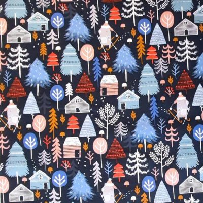 Winter Woods  Midnight