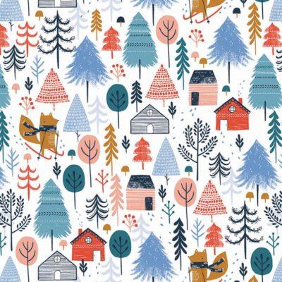 Winter Woods  White