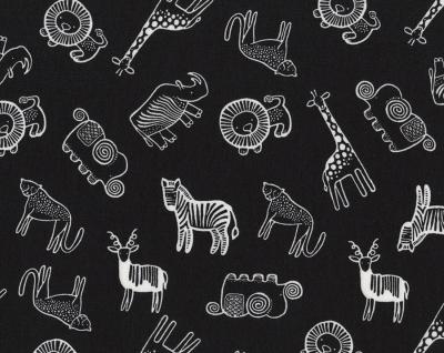 Safari Animals Black