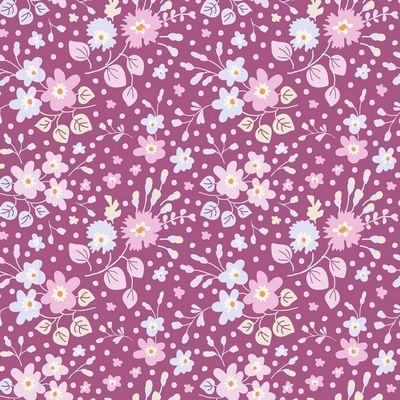 Flower Confetti  Plum
