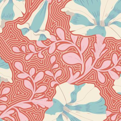 Striped Petunia  Coral