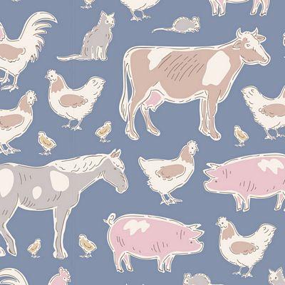 Farm Animals Blue