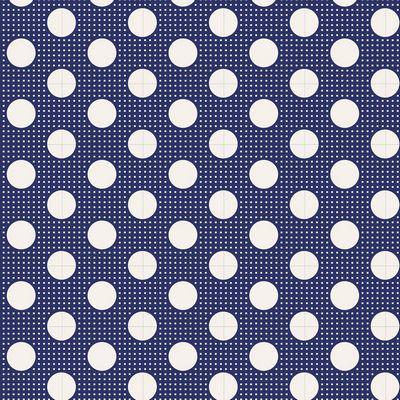 Medium Dots  Night Blue