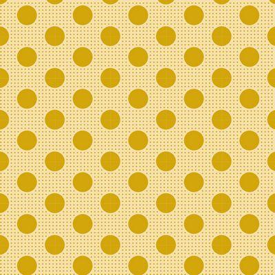 Medium Dots  Flaxen Yellow