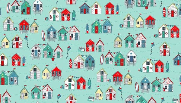 Beach Huts  Turquoise