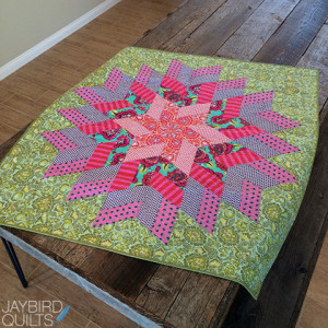 glimmer tula pink baby quilt